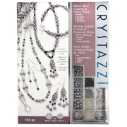 Crystazzi Jewellry Making Kit in Silver Mist